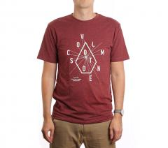 Volcom Eyechart Heather Tee Crimson