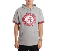 Mitchell & Ness Team Logo Short Sleeve Hoodie Alabama Grey