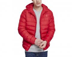 Urban Classics Basic Bubble Jacket Fire Red