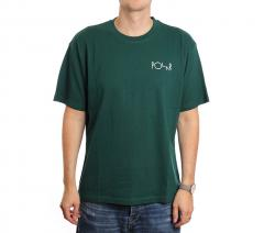 Polar Skate Co. Stroke Logo Tee Dark Green