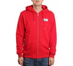 Makia Emblem Hooded Sweatshirt Red