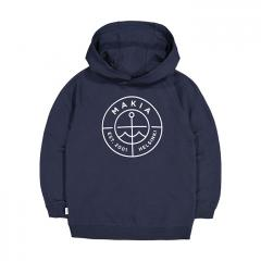Makia Kids Scope Hooded Sweatshirt Dark Blue