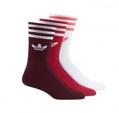 Adidas Originals Crew Socks 3-Pack Collegiate Burgundy / Scarlet / White