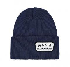 Makia Emblem Beanie Dark Blue