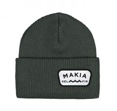 Makia Emblem Beanie Dark Green