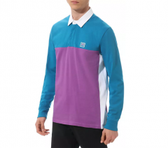 Vans Hi-Point Colorblock Rugby Shirt Turkish Tile