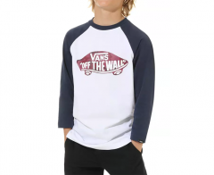 Vans Youth OTW Raglan Tee White / Dress Blues - Port Royale Camo