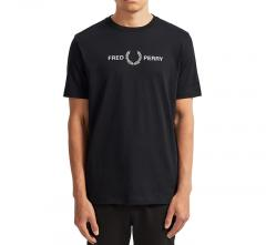 Fred Perry Graphic Tee Black