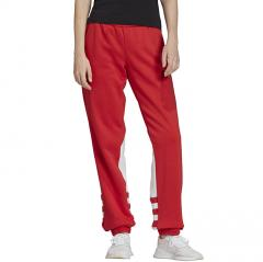 Adidas Originals Womens Large Logo Sweat Pants Lush Red / White