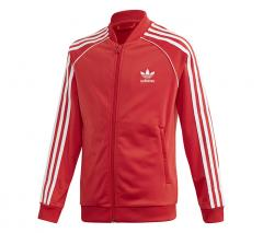 Adidas Junior SST Track Jacket Lush Red / White