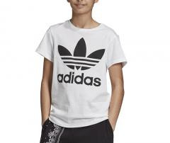Adidas Youth Trefoil Tee White / Black