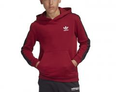 Adidas Junior Tape Hoodie Collegiate Burgundy