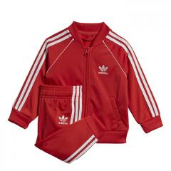 Adidas Kids SST Track Suit Lush Red / White