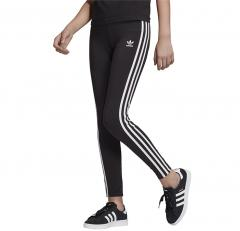 Adidas Originals Youth 3 Stripes Leggings Black / White