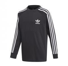 Adidas Originals Youth 3 Stripes LS Black / White