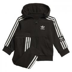 Adidas Kids Lock Up Hoodie Set Black / White