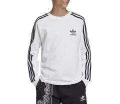 Adidas Originals Youth 3 Stripes LS Tee White / Black