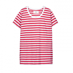 Makia Womens Verkstad Tee Red / White
