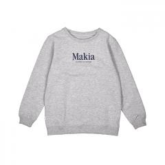 Makia Kids Strait Sweatshirt Light Grey