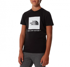 The North Face Youth Box Tee TNF Black / TNF White