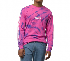 Vans Tie Dye Checker Sleeve LS Fuchsia Purple