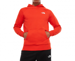 The North Face Raglan Red Box Hoodie Fiery Red