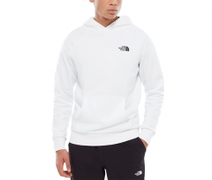 The North Face Raglan Red Box Hoodie TNF White