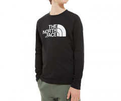 The North Face Youth Easy Longsleeve Tee TNF Black / TNF White