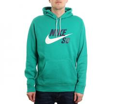 Nike SB Icon Hoodie Neptune Green / White