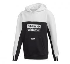 Adidas Youth Fleece Hoodie Black / White