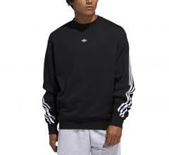 Adidas Originals 3-Stripe Wrap Crew Black / White