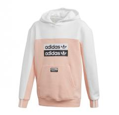 Adidas Youth Fleece Hoodie Glow Pink / White