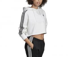 Adidas Originals Womens Cropped Hoodie White