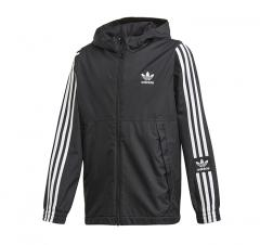 Adidas Youth Lock Up Windbreaker Black / White