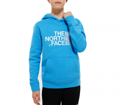 The North Face Youth Drew Peak Hoodie Clear Lake Blue / TNF White
