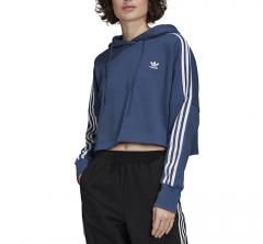 Adidas Originals Womens Cropped Hoodie Night Marine / White
