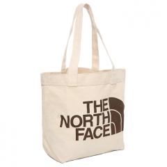 The North Face Cotton Tote Weimaraner Brown Large Logo Print