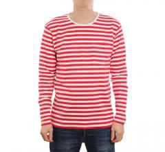 Makia Verkstad Longsleeve Red / White