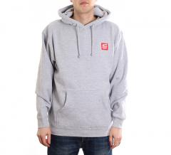 Happy Hour Patch Logo Pullover Hoodie Grey Heather