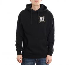 Happy Hour Dots Box Logo Pullover Hoodie Black