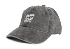Happy Hour Pigment Dyed OG Logo Cap Black