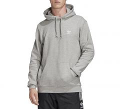 Adidas Originals Trefoil Essentials Hoodie Medium Grey Heather