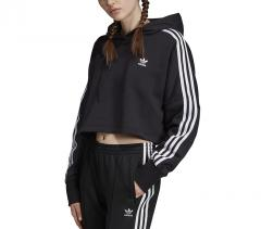 Adidas Originals Womens Cropped Hoodie Black