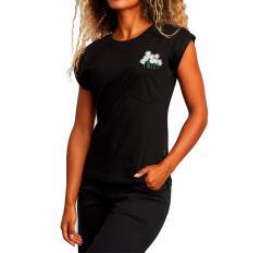 Dedicated Womens Visby Flower Pocket Black
