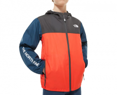 The North Face Youth Reactor Wind Jacket Fiery Red / Asphalt Grey