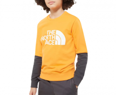 The North Face Youth Drew Peak Light Crew Flame Orange