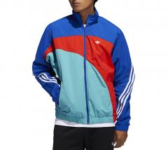 Adidas Originals Off Center Windbreaker Royal Blue / Active Red