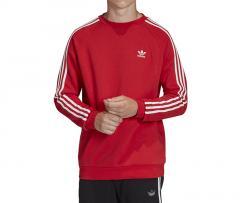 Adidas Originals 3 Stripes Crewneck Sweatshirt Lush Red