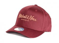 Mitchell & Ness Metallic Pinscript Snapback Burgundy / Copper