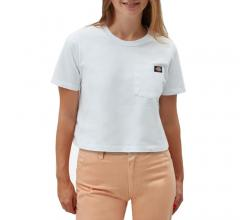 Dickies Womens Ellenwood Cropped Tee White